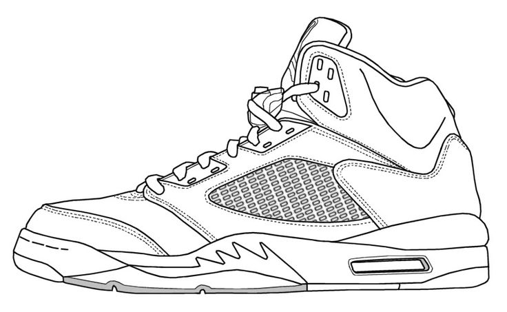 736x453 Air Jordan 5 Drawing