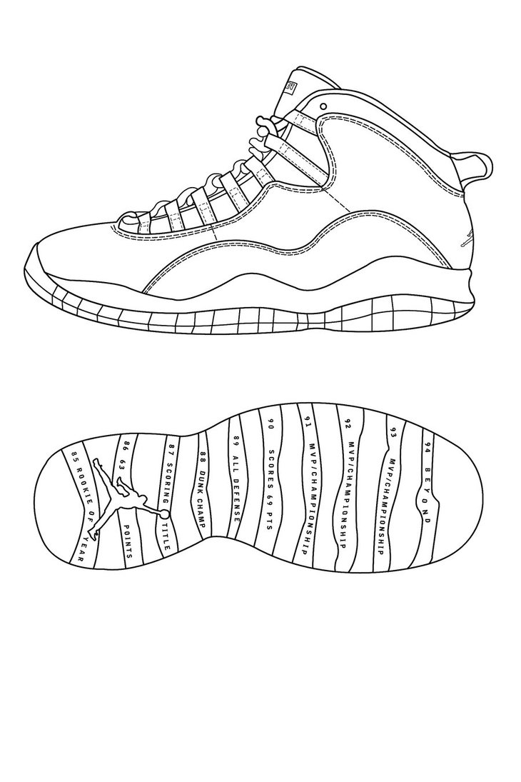 730x1095 Air Jordan Retro 10 Template By Atraain