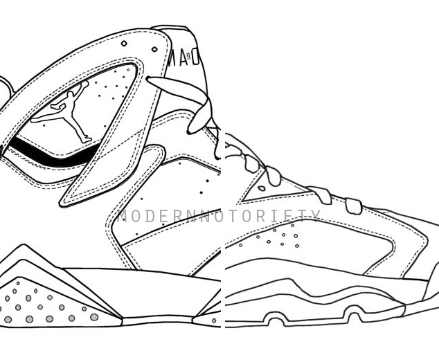634x497 Air Jordan 7 Drawing How To Draw Jordans 13 Provincial Archives