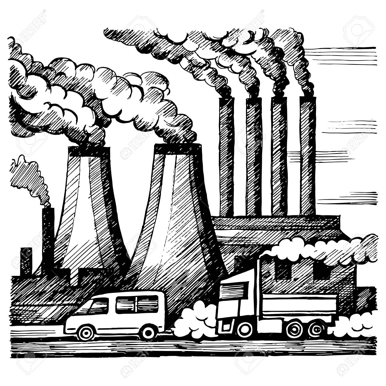 Air pollution drawing at getdrawings com free for personal