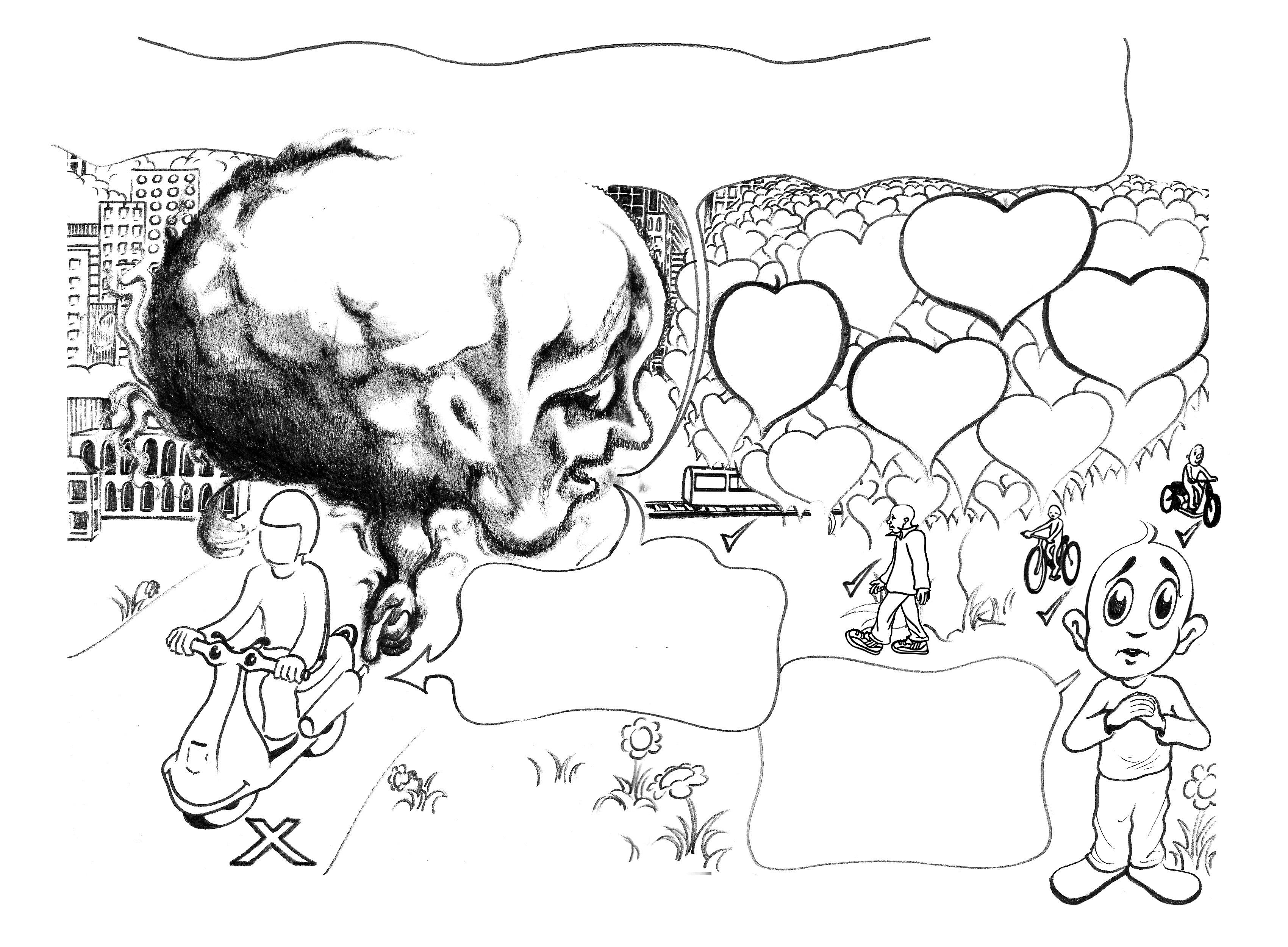 3400x2500 Pollution Pencil Sketch Pencil Sketch Of Pollution Of Air