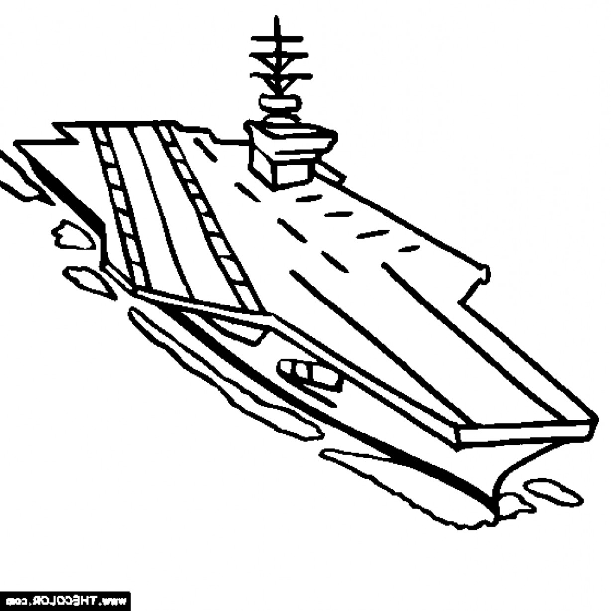 1228x1228 Aircraft Carrier Coloring Page