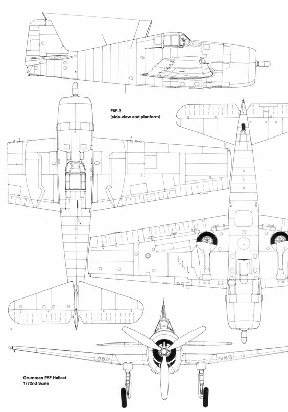 Aircraft carrier drawing at getdrawings free for personal use 564x806 grumman f6f hellcat blueprint malvernweather Images