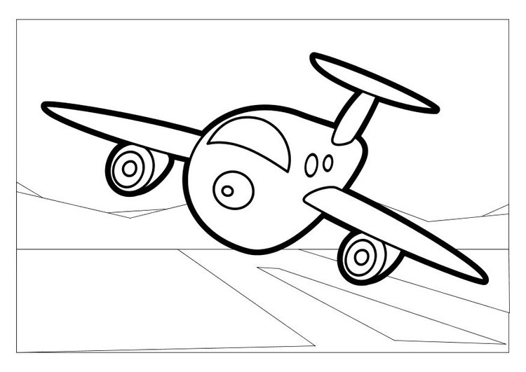 750x531 Coloring Page Airplane