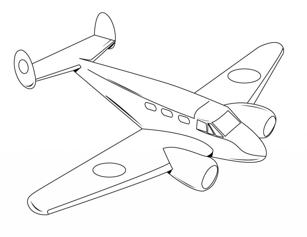 1024x792 Airplane Coloring Page Drawing Printable Free Coloring Book Picture