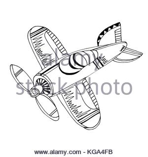 300x320 Watercolor Plane Aircraft Drawing Cartoon Style Isolated On A Wh