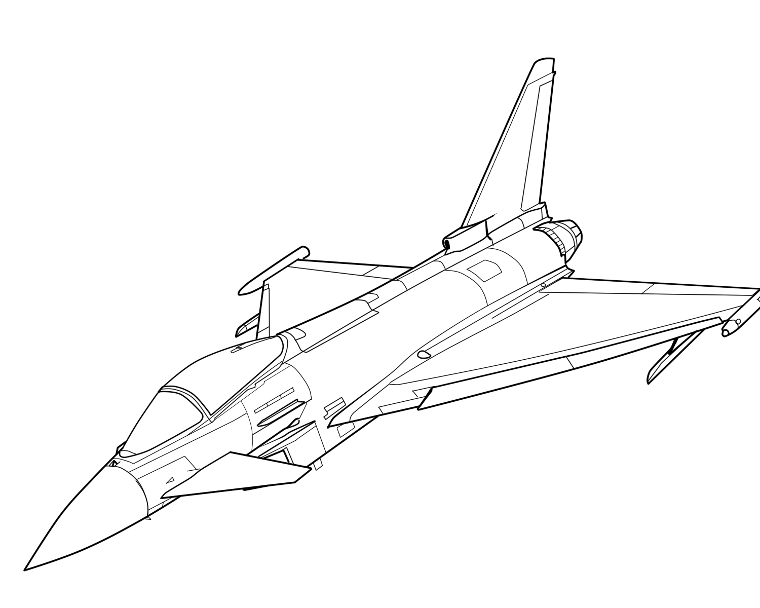 Line Drawing Jet : Aircraft line drawing at getdrawings free for