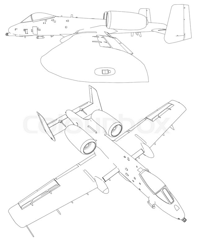 Aircraft Line Drawing At Getdrawings Com