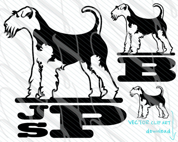 570x456 Airedale Svg Airedale Terrier Monogram Svg Vector Art File