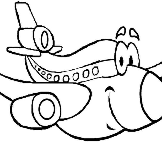 678x600 Cartoon Colouring Pictures Transportation Cartoon Plane Colouring