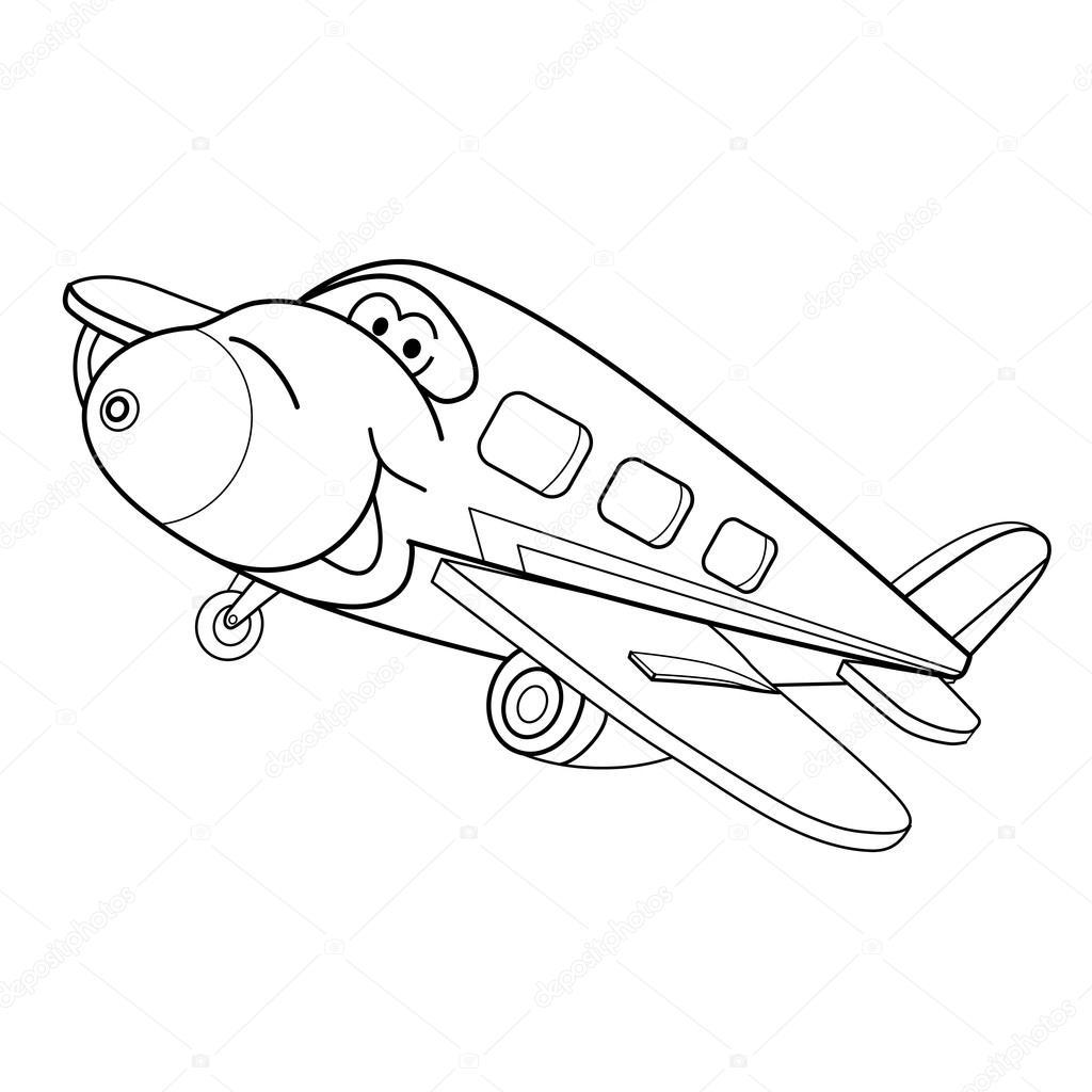 1024x1024 Cartoon Sketch Airplane Stock Vector Vitasunny