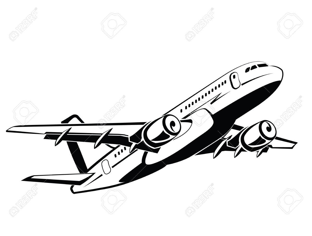 Coloring Page Airplane Outline : Airplane drawing at getdrawings free for personal use