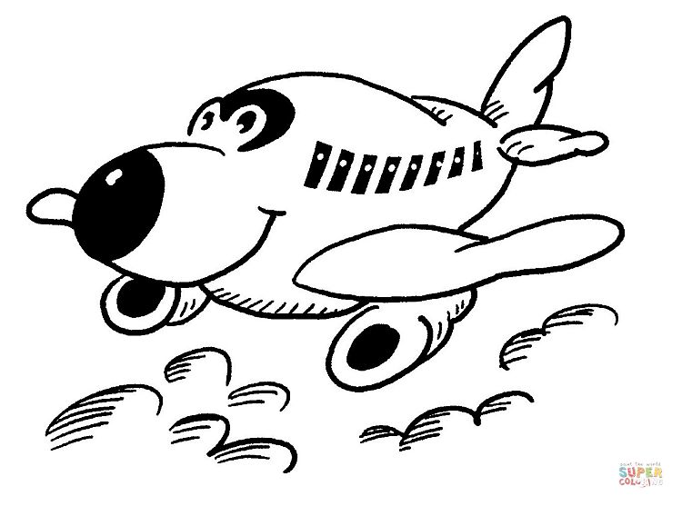 Easy To Print Coloring Pages For Adults : Airplane drawing easy at getdrawings.com free for personal use