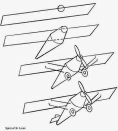 236x262 Drawn Aircraft Step By Step