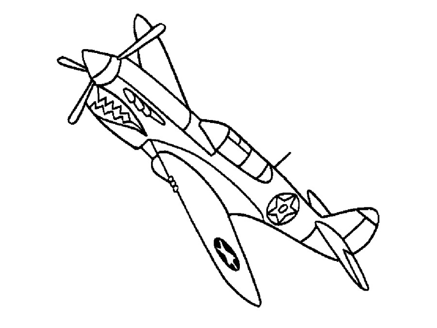 900x675 Easy Airplane Coloring Pages For Kids To Print Free Coloring
