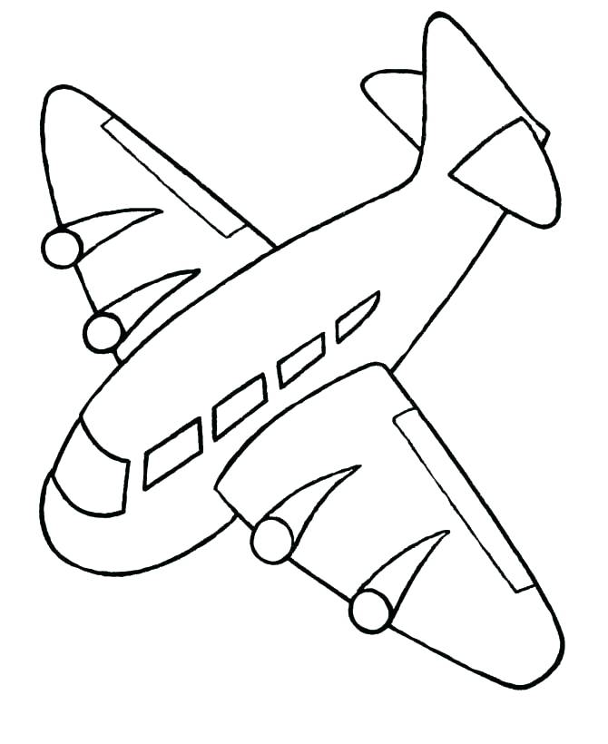 670x820 Airplane Coloring Pages Airplanes Coloring Pages Easy Airplane