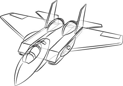 400x282 Airplane Drawing Clipart