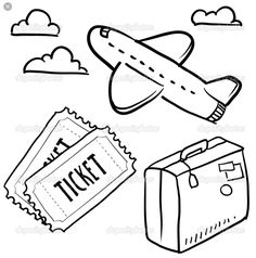 236x238 Airplane Drawing Image Group