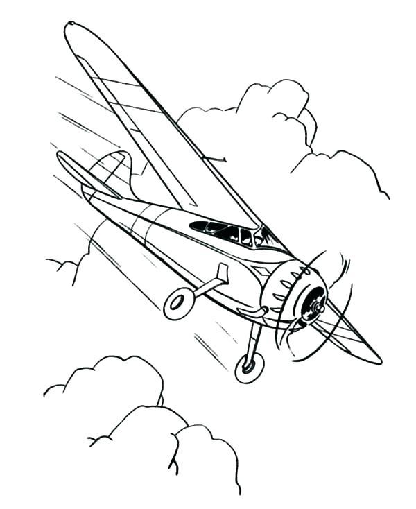 600x734 Airplane Coloring Sheets Drawn Colouring Page 7 Aircraft