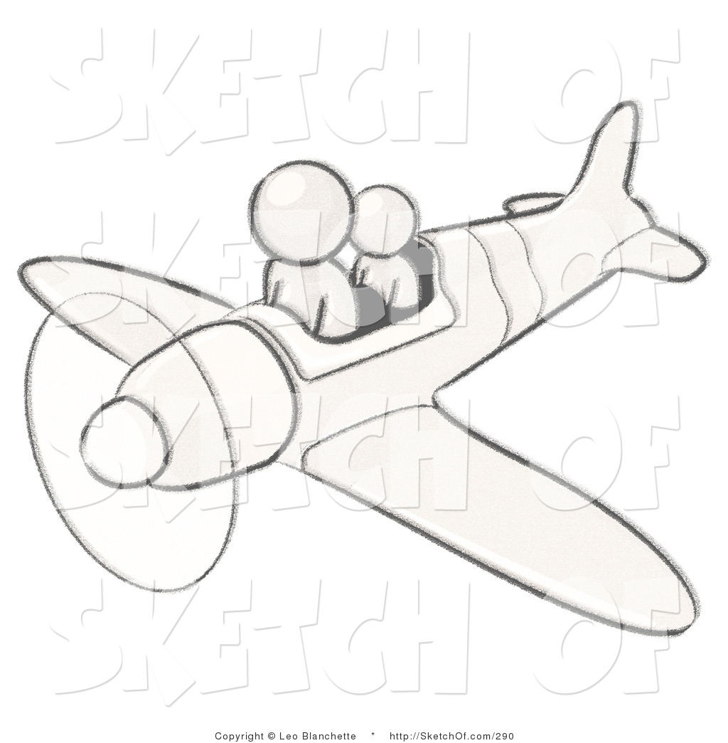 1024x1044 Drawing Of Sketched White Design Mascot Flying Plane