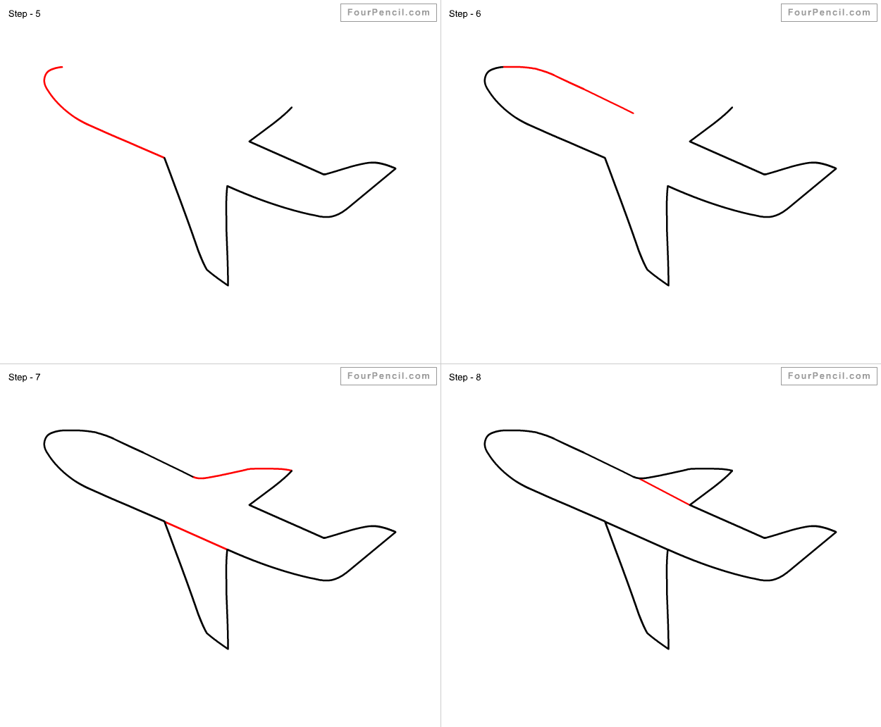 1250x1032 Fpencil How To Draw Aeroplane For Kids Step By Step