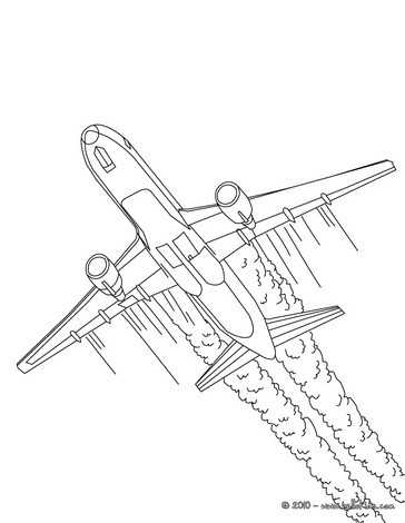 364x470 Plane Coloring Pages