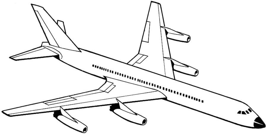 900x454 Airplane Drawing
