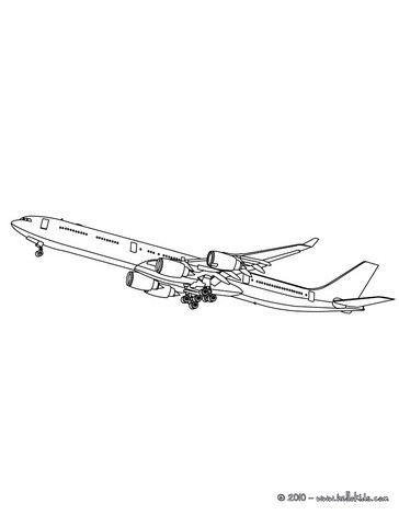 364x470 Airplane Side View Coloring Pages