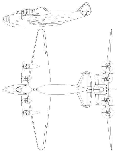 Airplane Line Drawing