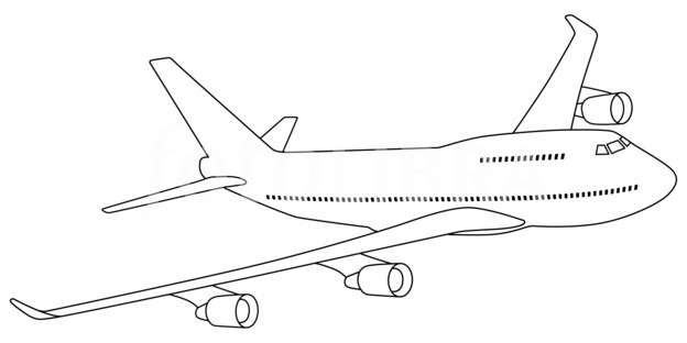 Line Drawing Airplane : Airplane outline drawing at getdrawings free for