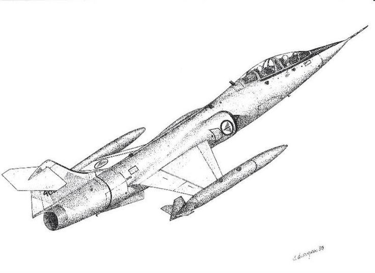 Airplane Pencil Drawing