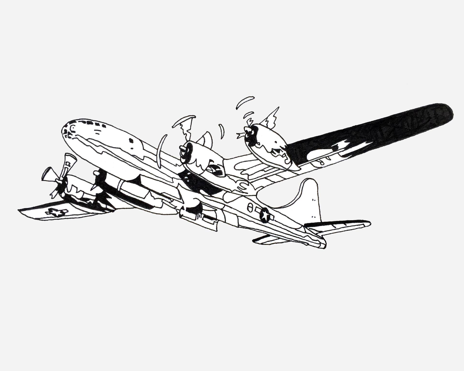 Coloring Page Airplane Outline : Airplane pencil drawing at getdrawings free for personal use