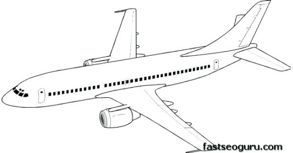 600x313 Plane Coloring Pages Pin Drawn Aircraft Coloring Page 4 Jet Plane