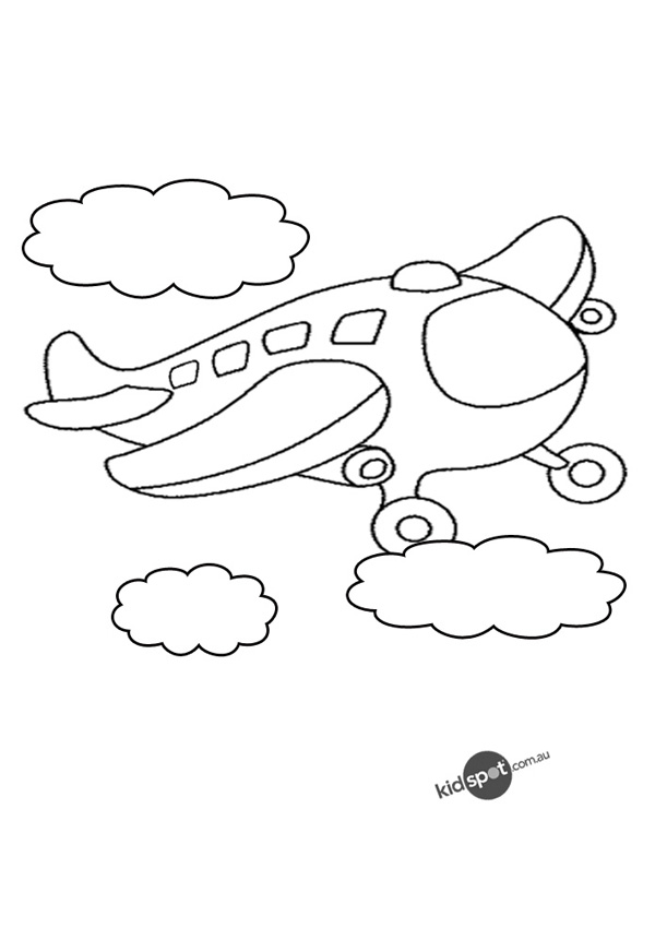600x850 Aeroplanes To Colour In Aeroplane Colouring Page Funycoloring