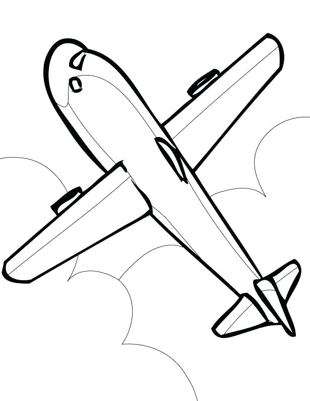 615x796 Elegant Airplane Coloring Pages Free Download Printable For Kids