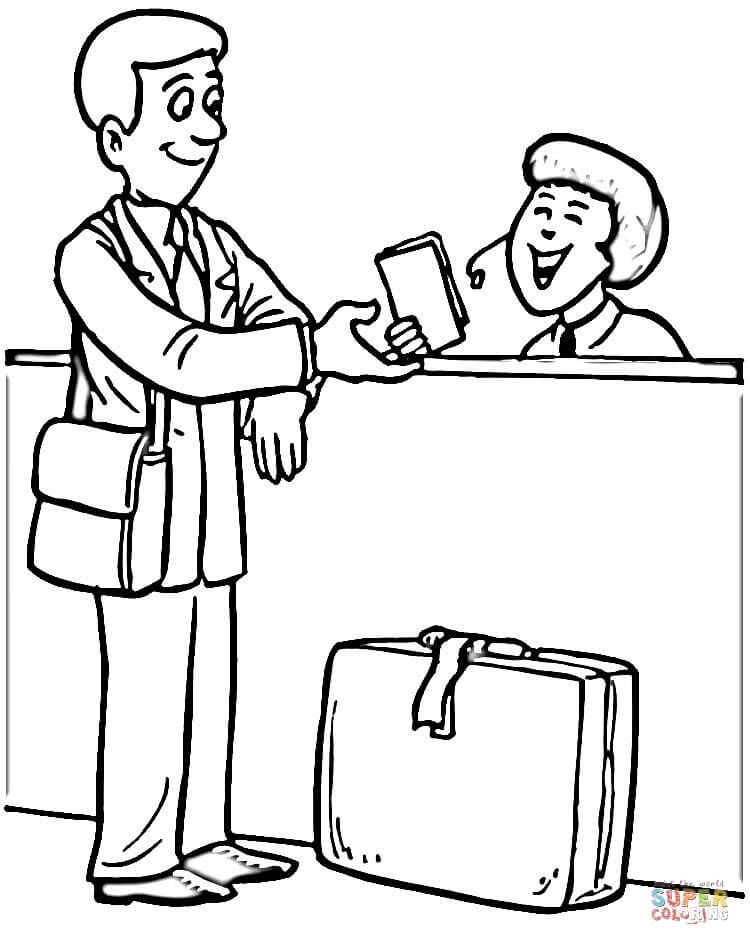 750x945 Check In Coloring Page Free Printable Coloring Pages