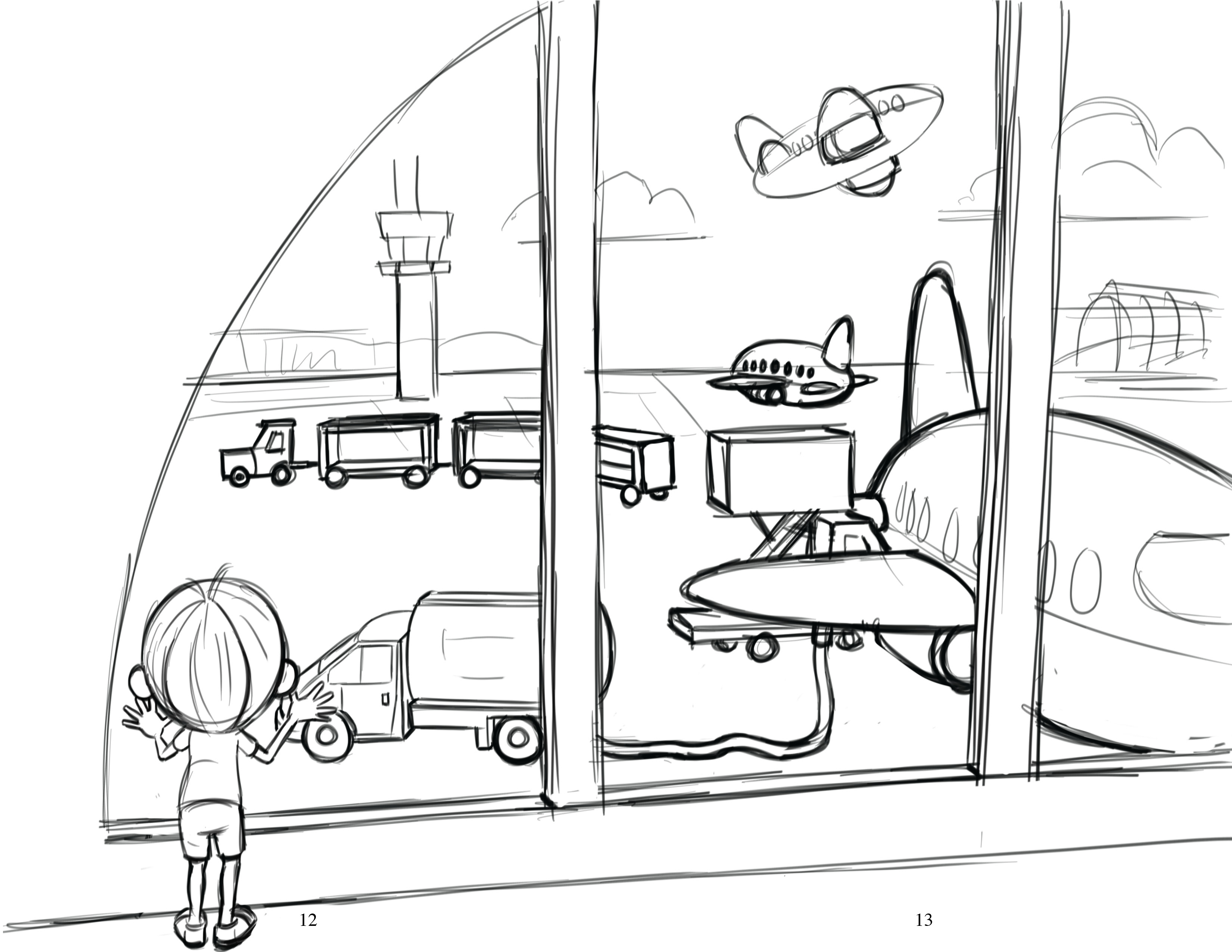 3300x2550 Coloring A Child's Airport Experience Jet Stream