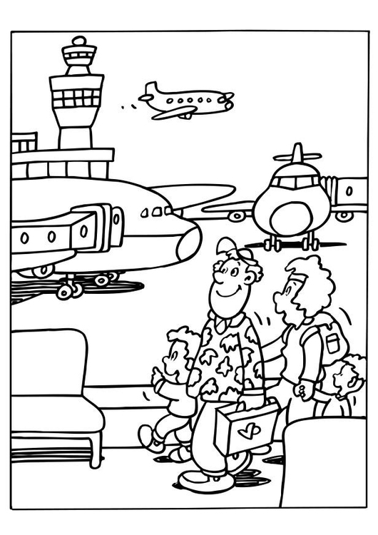530x750 Coloring Page Airport