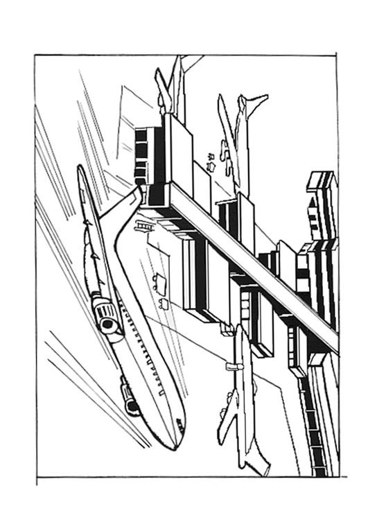 531x750 Coloring Page Airport