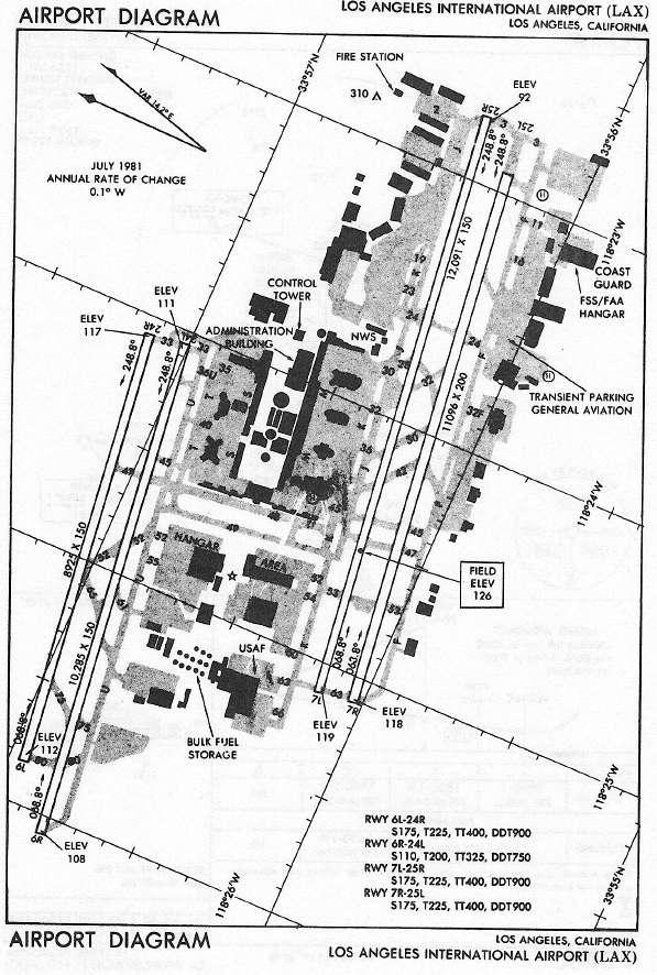 597x886 Los Angeles International Airport (Lax) Airport Diagram Airport