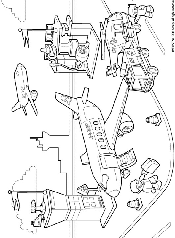 590x800 Lego Duplo Coloring Pages Airport Cartoons Lego