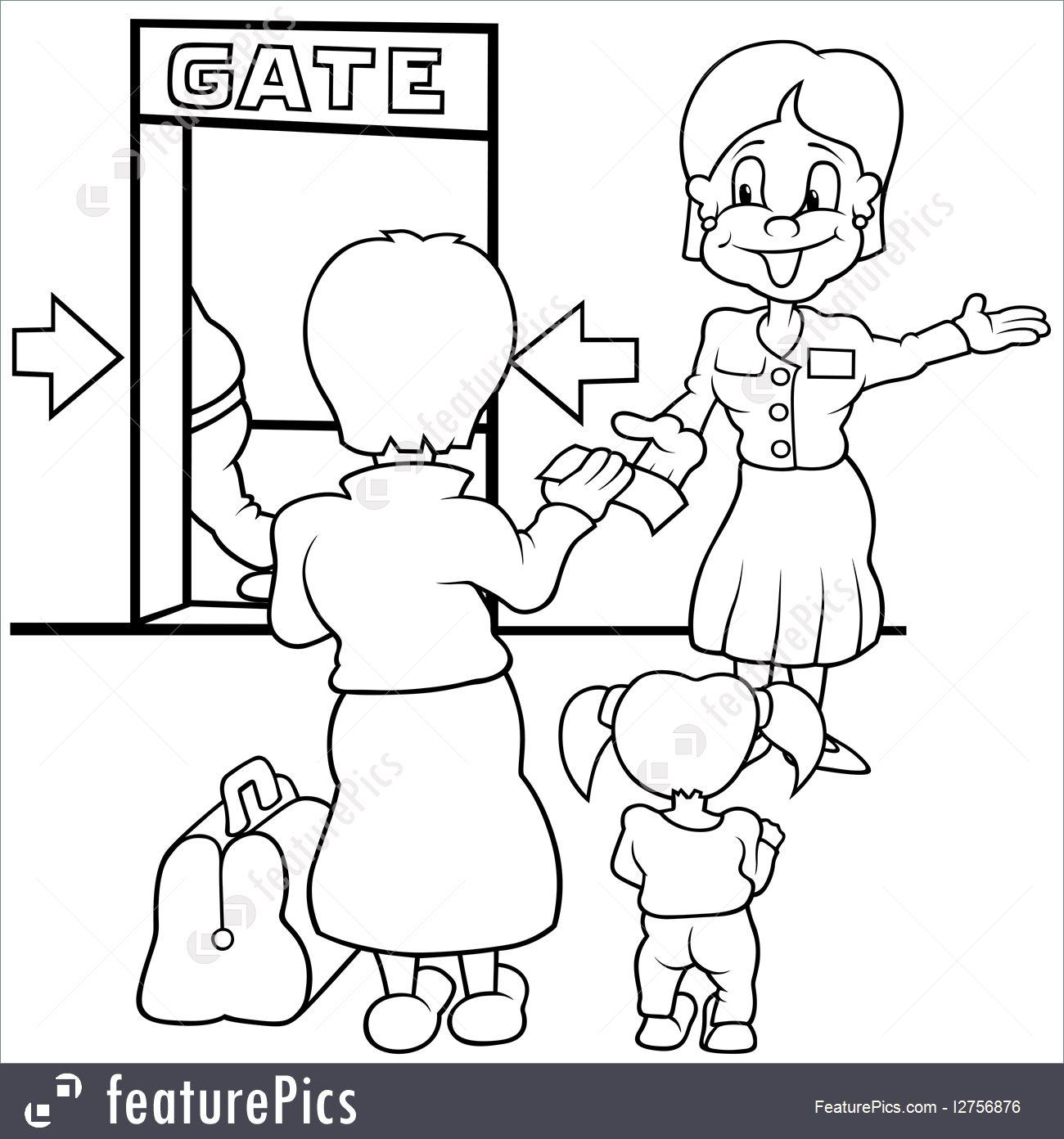 1300x1392 Airport Gate Illustration