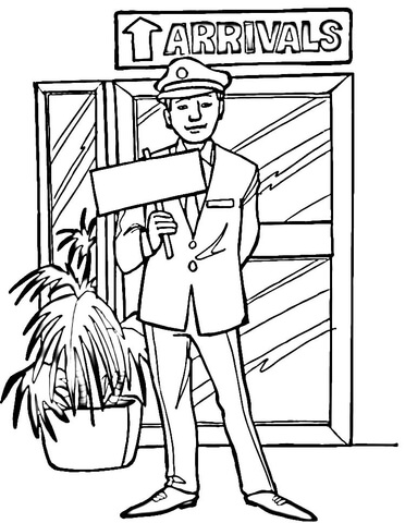 372x480 Arrivals In Airport Coloring Page Free Printable Coloring Pages