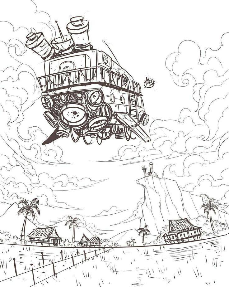 736x920 283 Best Airship! [Pen Ink Pencil Sketch Paint] Images
