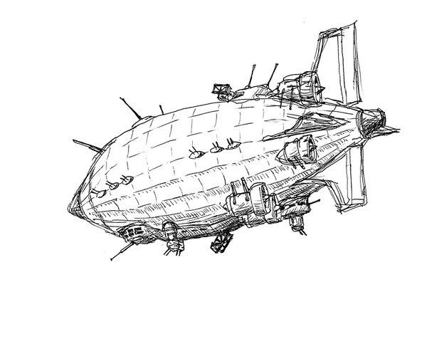 600x490 Airship By Ronnyronin