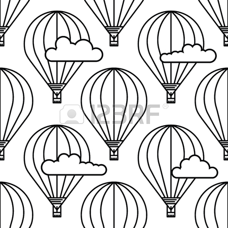 450x450 Dirigible And Hot Air Balloons Airship. Scandinavian Trend