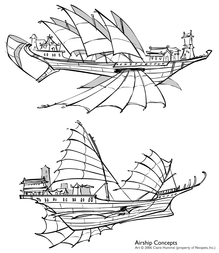 730x846 Shenkuu Airship Concepts By Shoomlah
