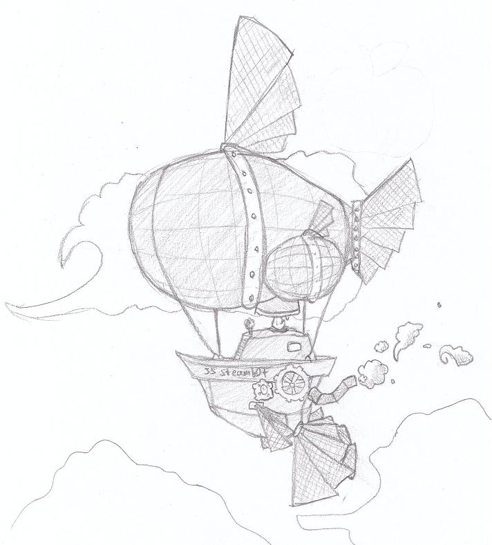 712x788 Airship Sketch By Tenshiketsueki1000