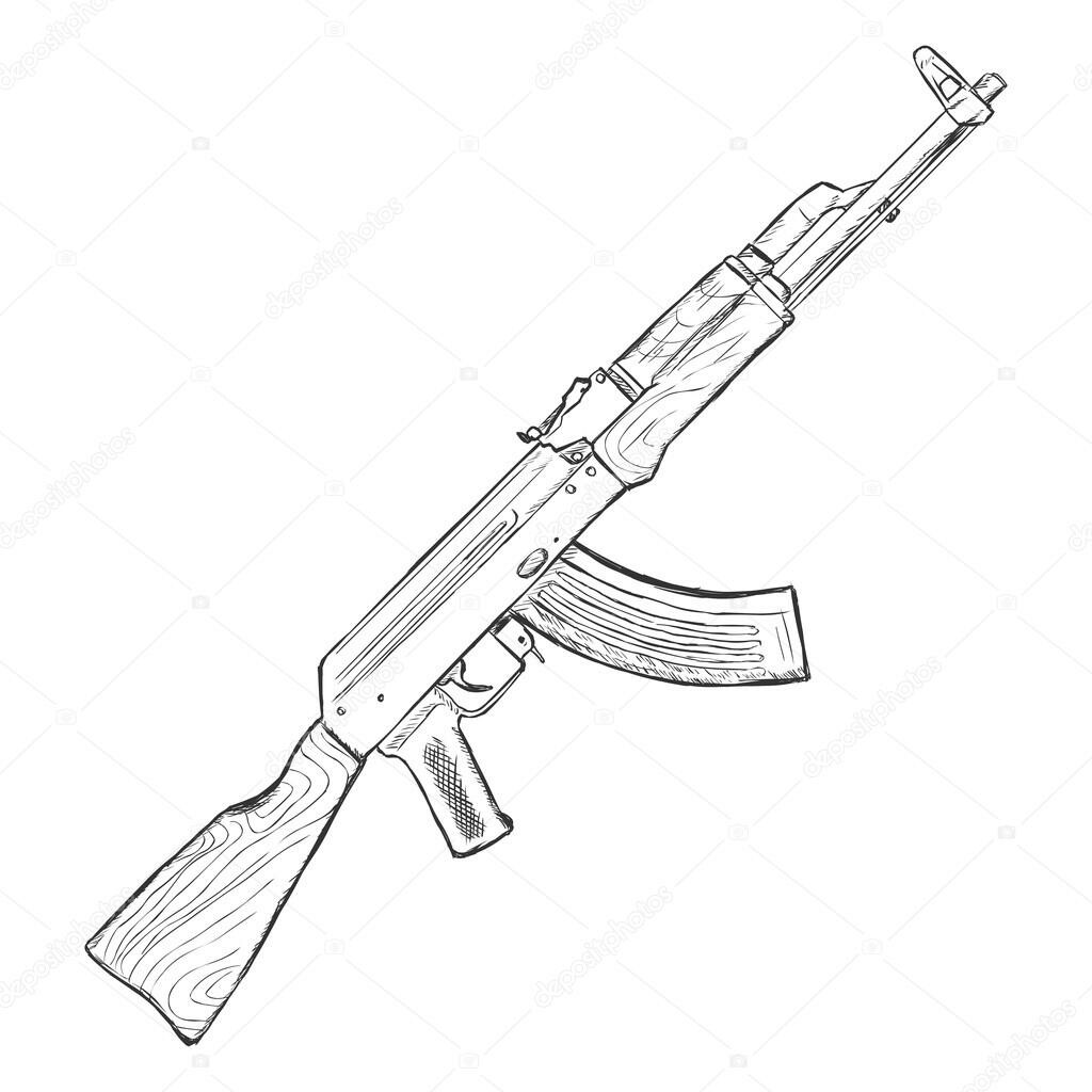 ak 47 drawing at getdrawings com