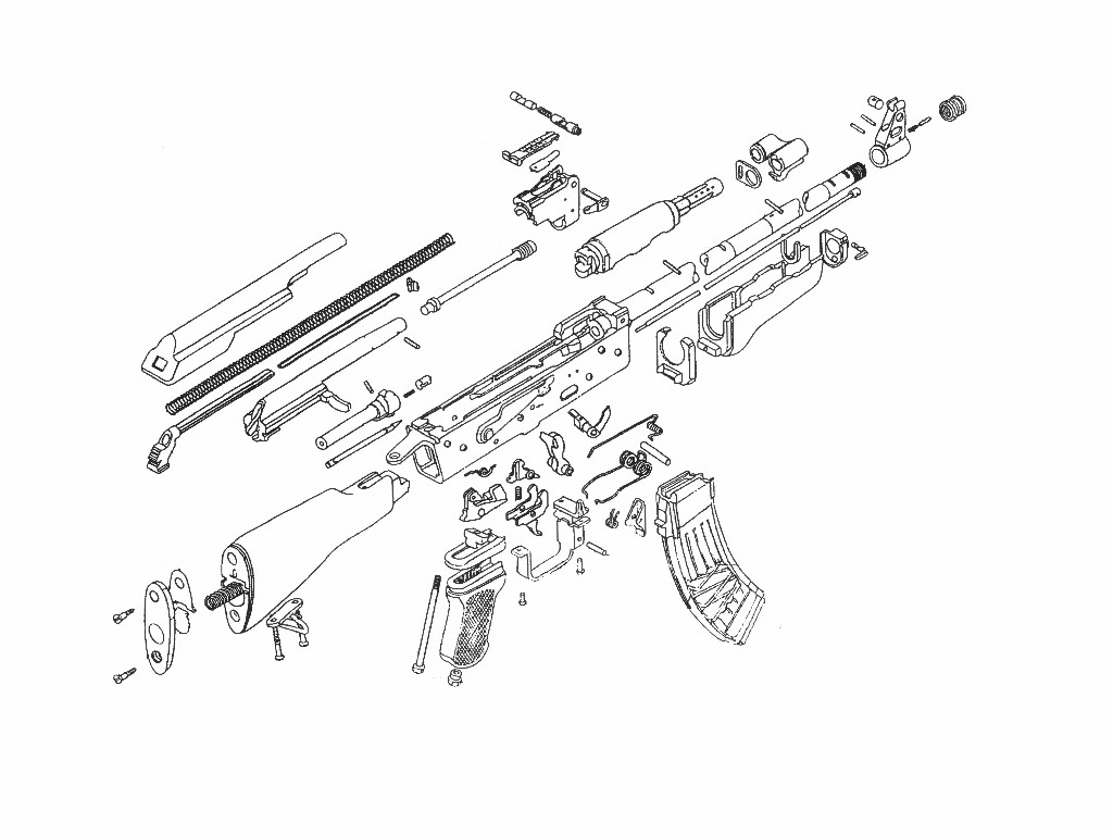 ak 47 exploded parts diagram 47 ford body diagram #6